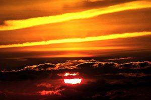 sunset, sun, setting sun